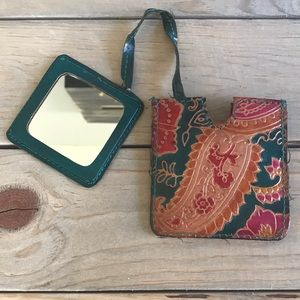 Accessories - Tooled Leather Hand Mirror